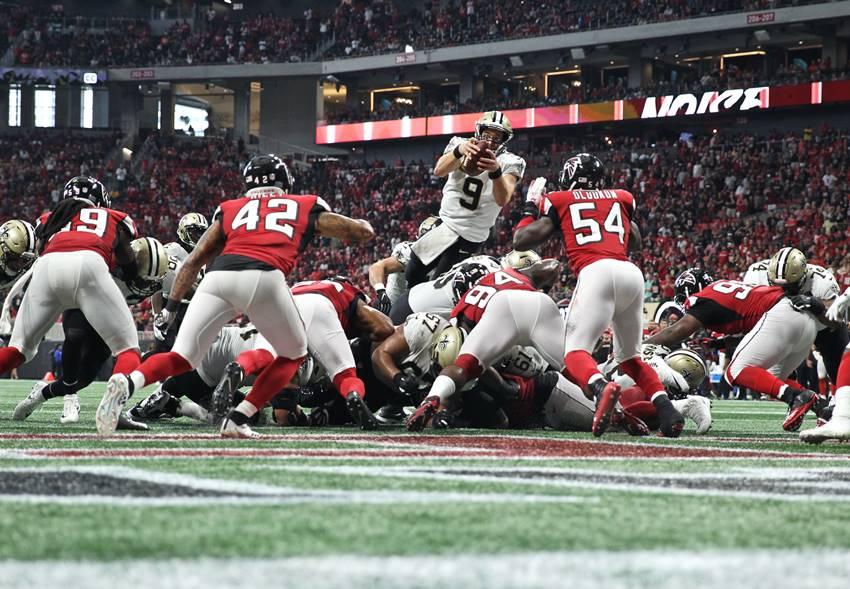 Saints edge Falcons in wild OT shootout