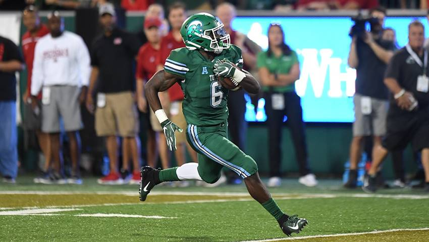 Big plays from Dauphine lead Tulane past Nicholls, 42-17