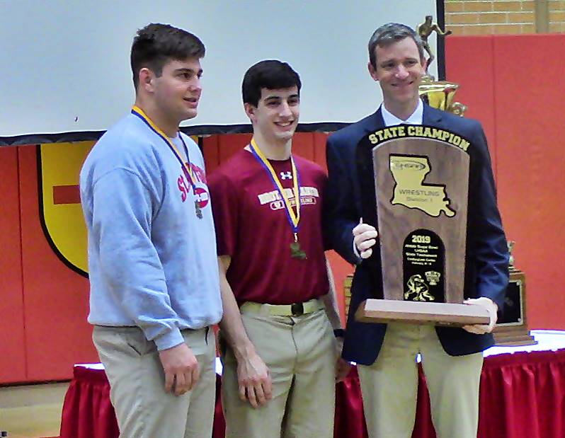 Video: Brother Martin state wrestling championship celebration on-campus
