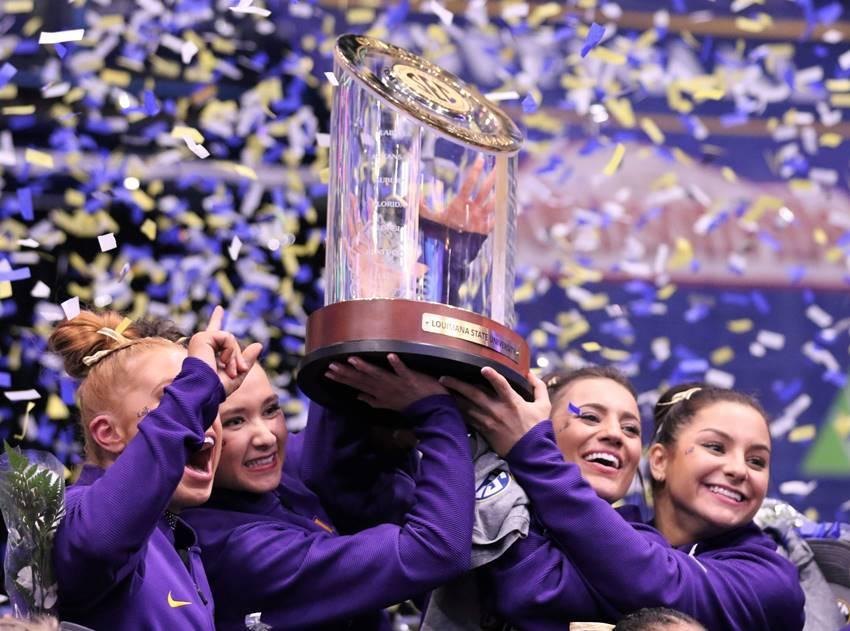 LSU wins SEC Gymnastics