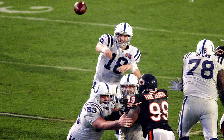 Peyton Manning, Colts vs Bears SB