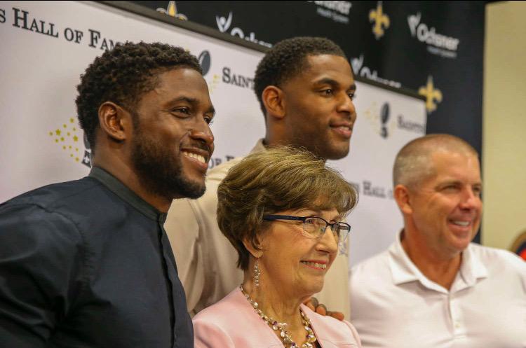 Reggie Bush, Marques Colston share Saints Hall of Fame spotlight with Kathleen Blanco
