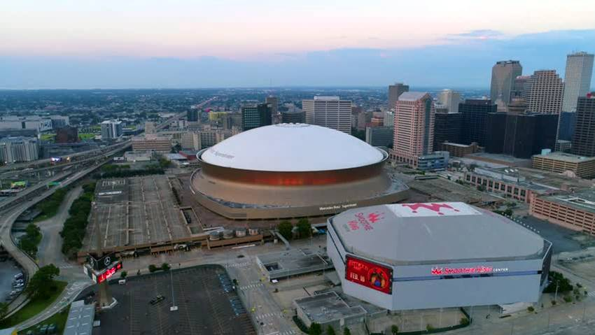 Superdome and Smoothie King Center