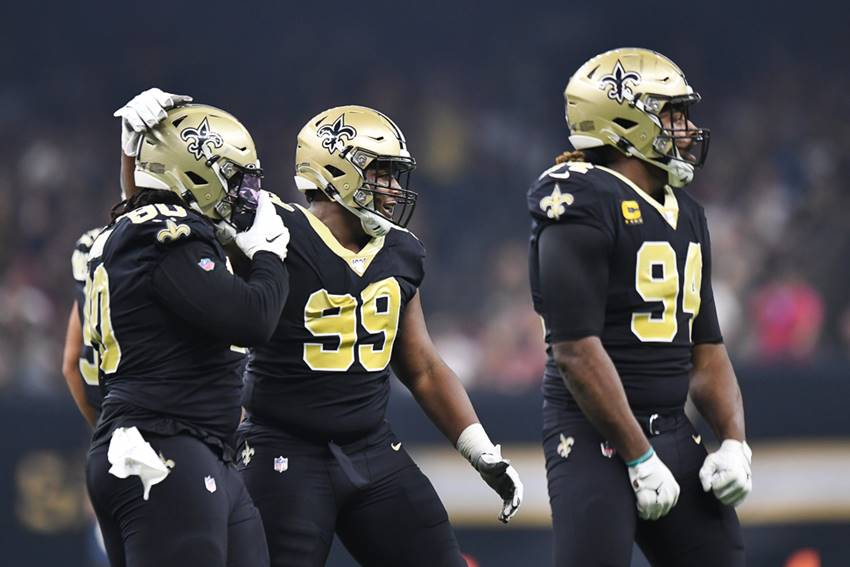 Saints: Malcolm Brown, Shy Tuttle, Cam Jordan