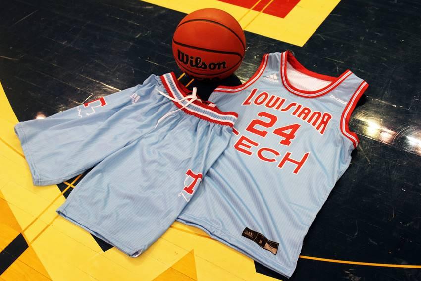LA Tech throwback basketball