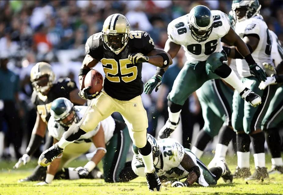 Saints RB Reggie Bush vs. Eagles