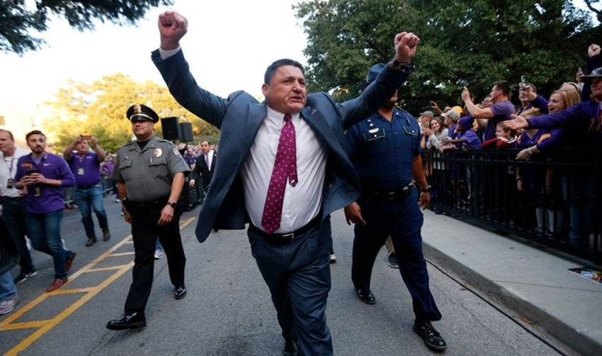 Ed Orgeron Tiger Walk