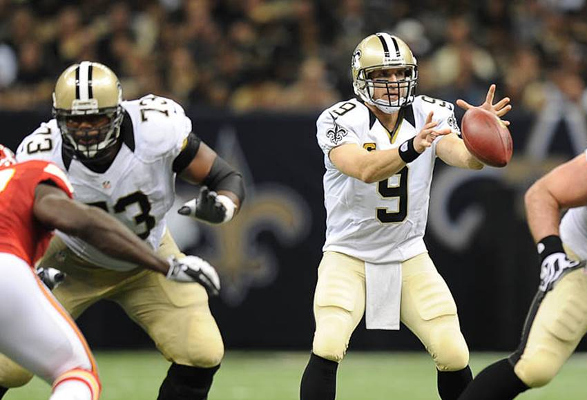 Jahri Evans, Drew Brees