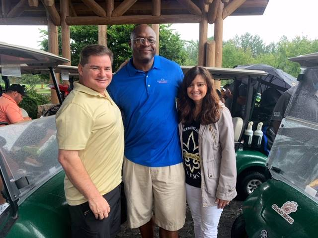 Ken Trahan and wife Denise with Joe Johnson
