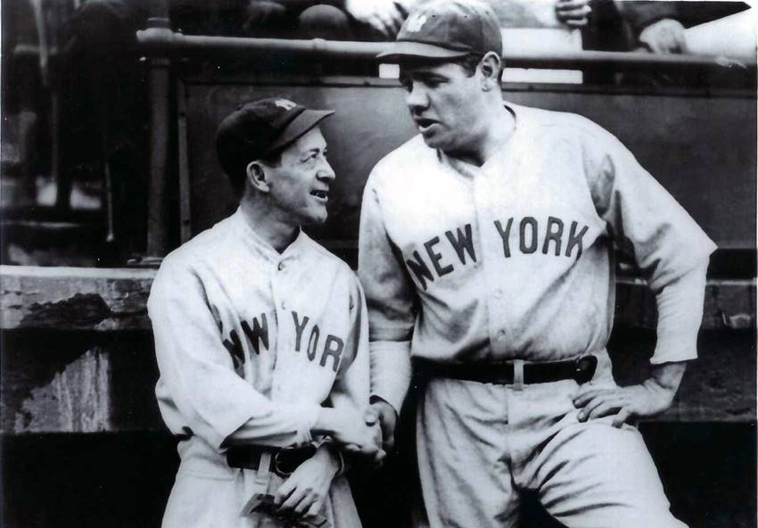 Babe Ruth with Miller Huggins