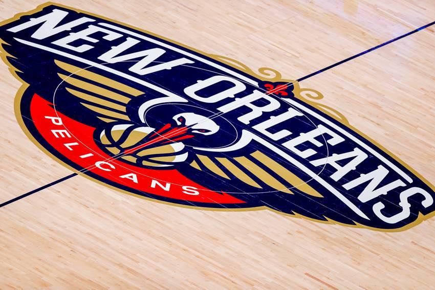 Pelicans logo court