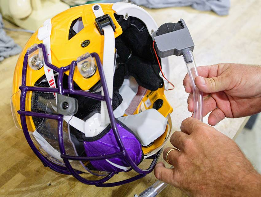 LSU helmet coronavirus protection