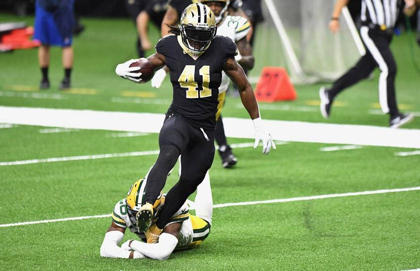 Saints RB Alvin Kamara TD vs Packers