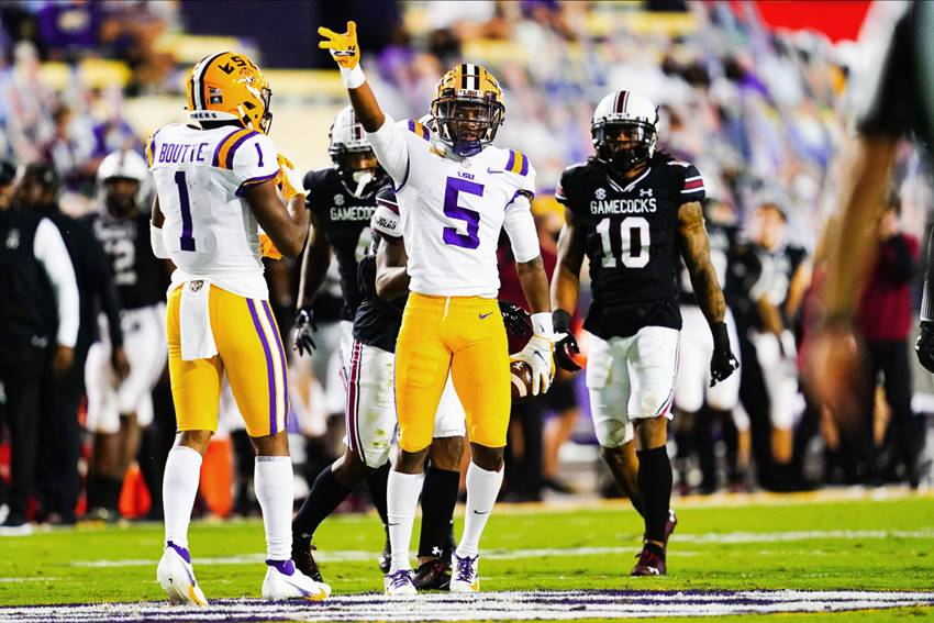 LSU WRs Kayshon Boutte and Koy Moore