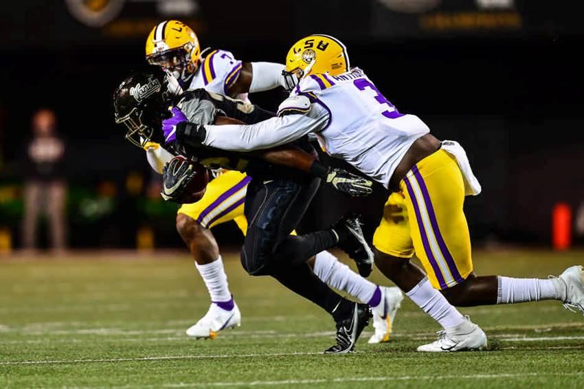 LSU defense at Vanderbilt