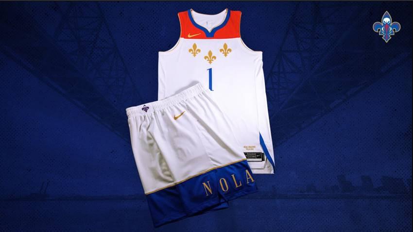 Pelicans City Edition Uniform Flag Themed