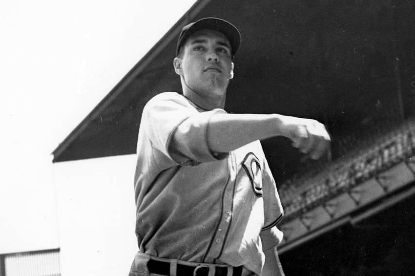 Cleveland Indians pitcher Bob Feller