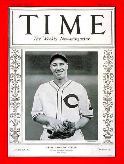 Bob Feller on Time Magazine April 1937