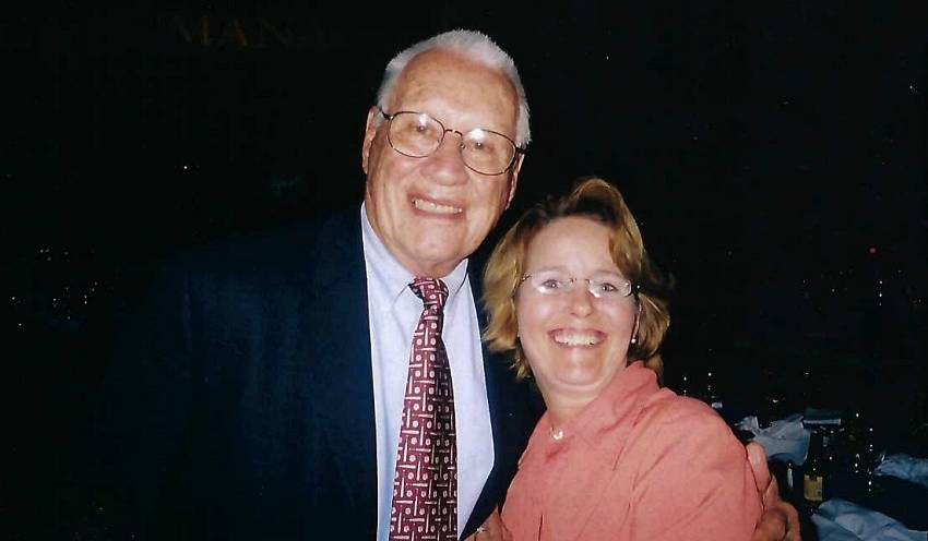 Bob Feller with Mary Cuicchi at World War II Museum Conference 2007