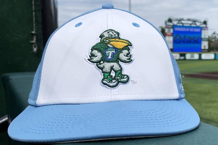 Tulane baseball bird cap