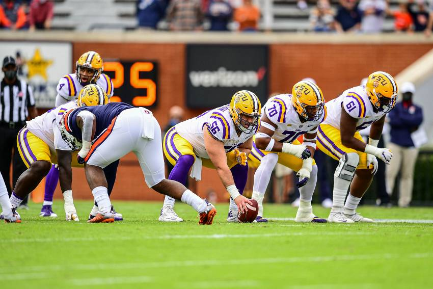 LSU Football Offensive line 2020