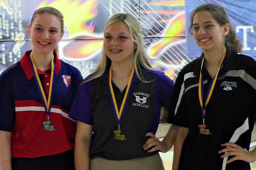 LHSAA girls individual bowling medalists