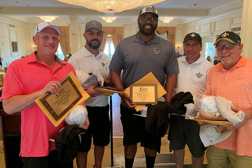 Jahri Evans anchors winning team at Saints Hall of Fame Celebrity Golf Classic