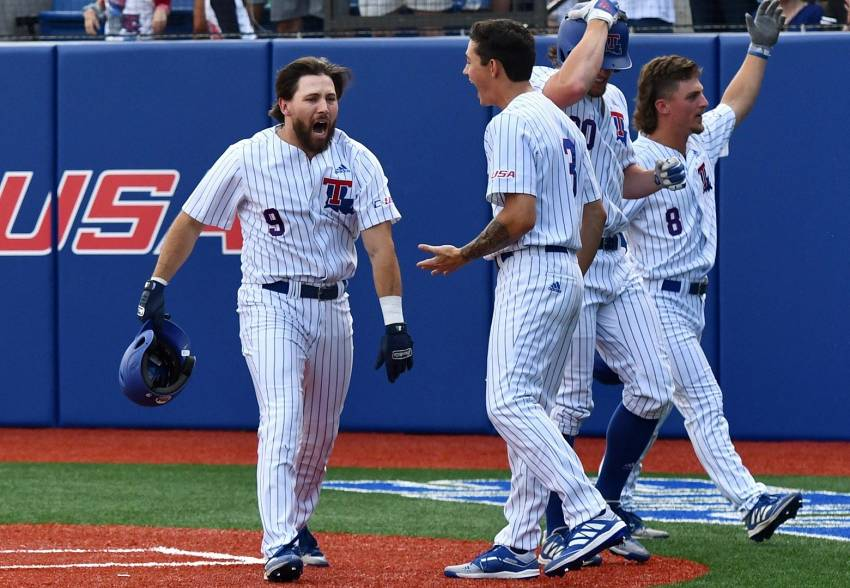 Wells drives in nine as LA Tech crushes Rider in Ruston Regional