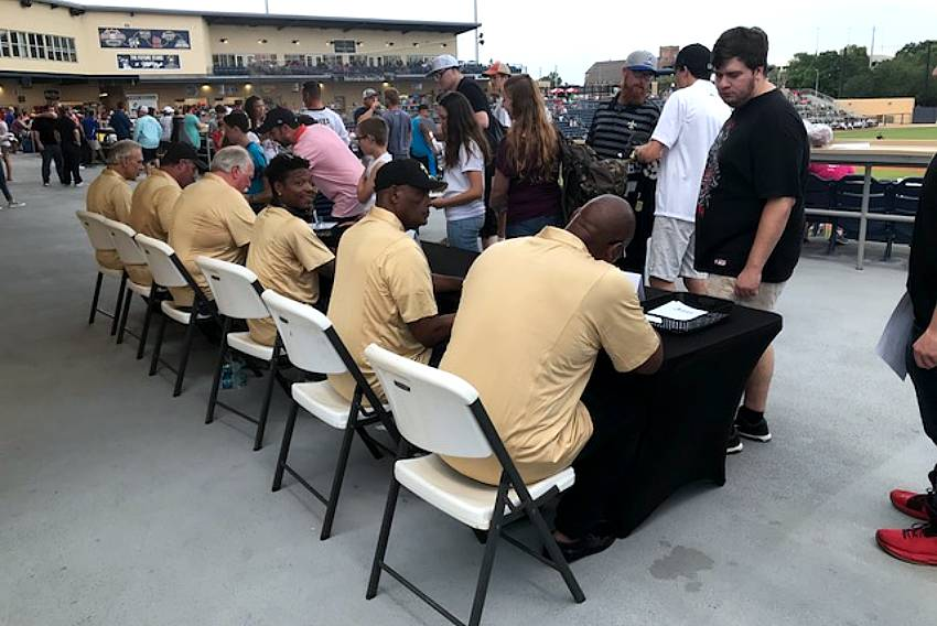 Saints alumni autographs Biloxi
