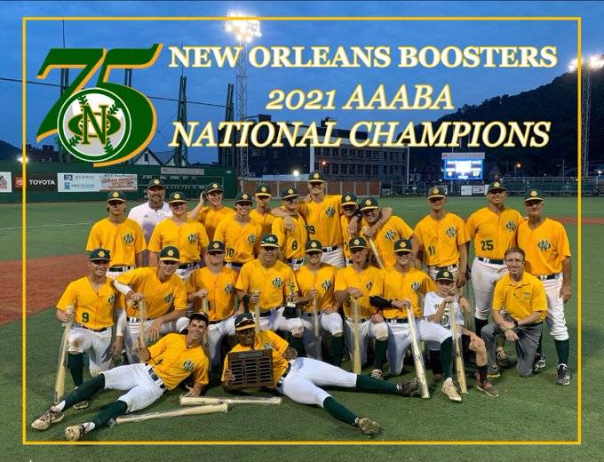 Boosters 2021 AAABA champions