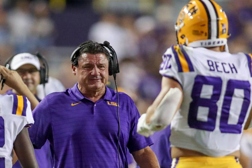 Ed Orgeron and Jack Bech