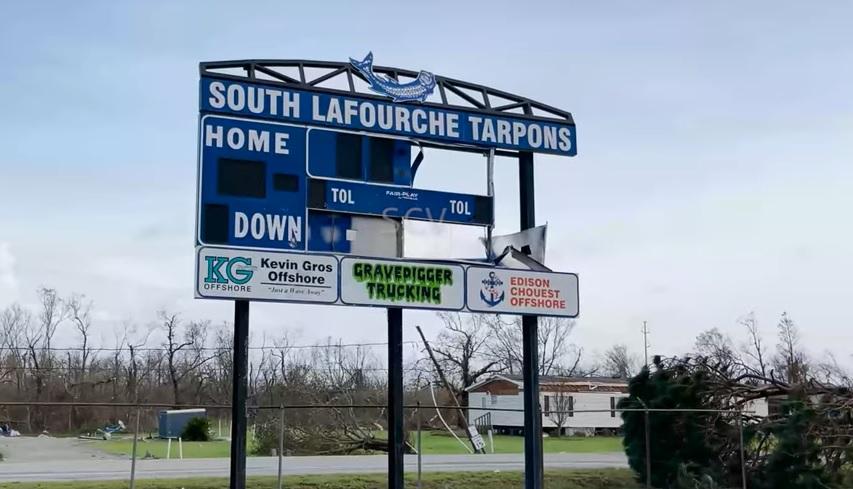 South Lafourche damage